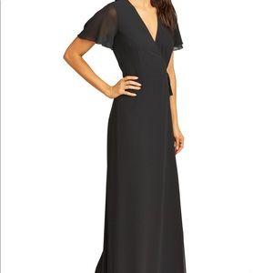 show me your mumu black wrap dress